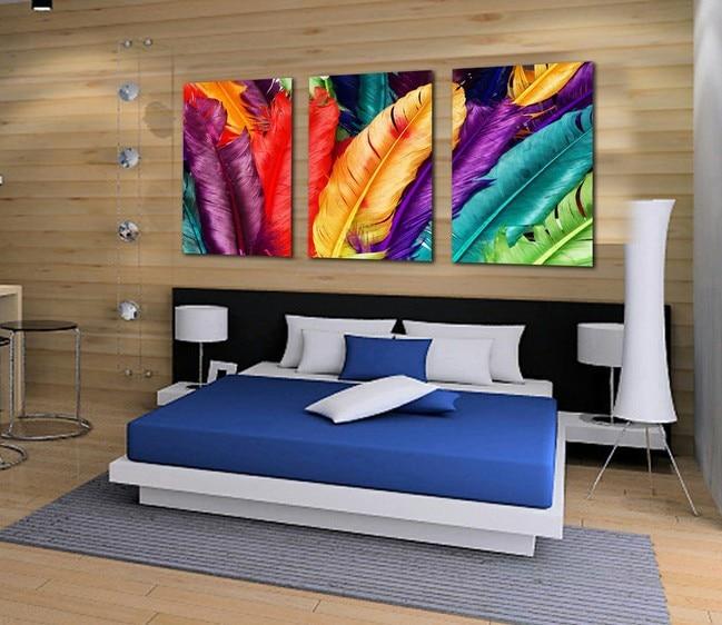 3 unids/set, pintura de paisaje moderna, Cuadros, Cuadros, decoración del hogar, Cuadros...