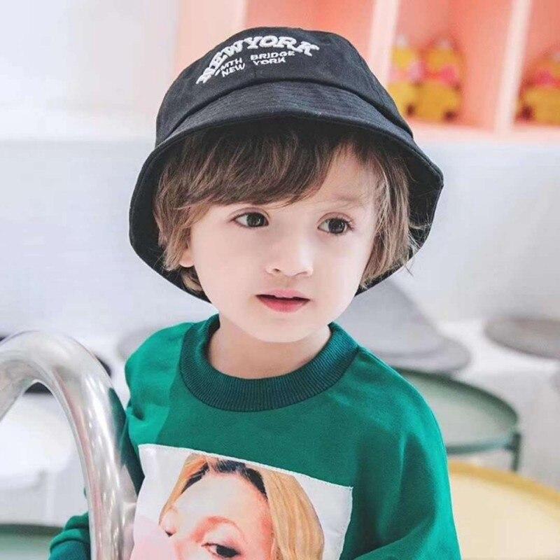 Venta caliente novedad de verano sombrero de cubo de algodón Niño niña visera de niños gorra de playa