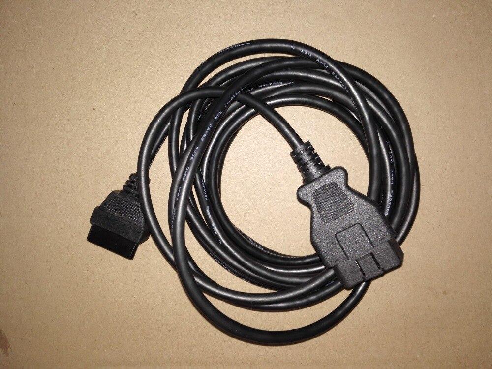 Finetrip obd2 cabo de extensão 5m 16 pinos para 16pin acesso completo obd 2 ferramenta diagnóstico conector