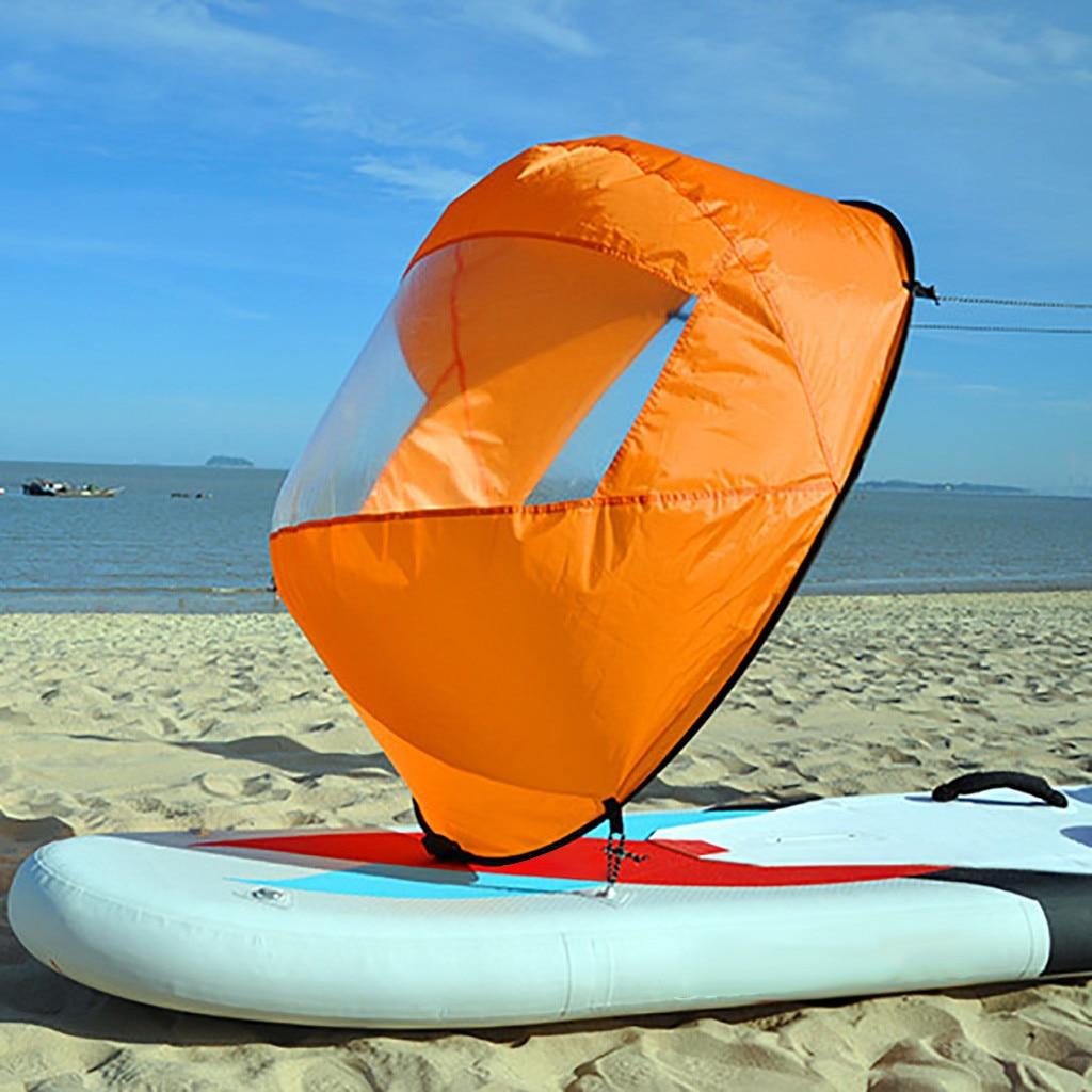 Orange Faltbare Kajak In Windrichtung Kit Popup Bord Wind Paddle Boot Wind Segel Kajak Kanu Aufblasbare Boot Segelboot Zubehör # g4