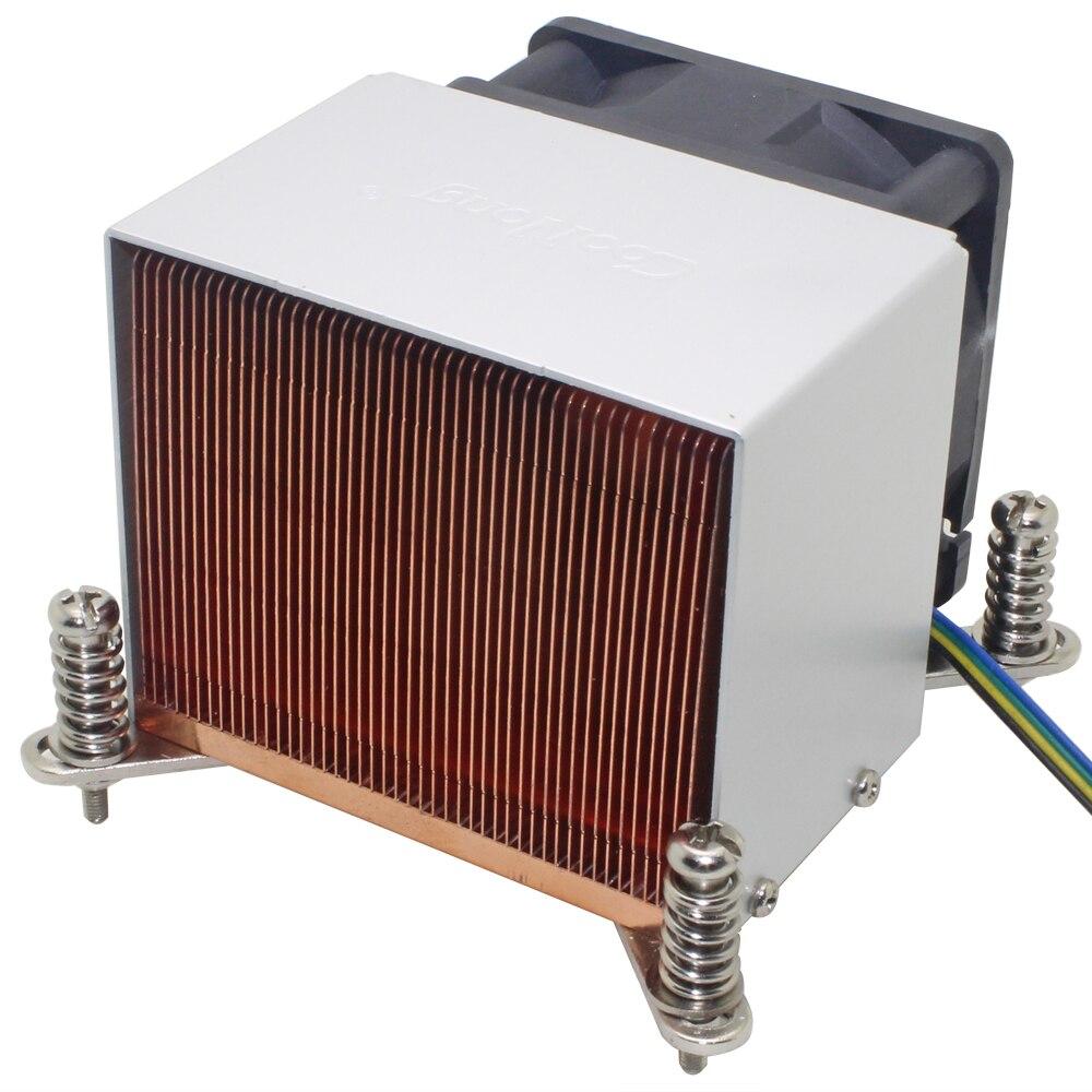2u servidor cpu cooler dissipador de calor ventilador de refrigeração para intel xeon lga 1155 1156 1150 1151 industrial computador estação de trabalho ativo refrigeração