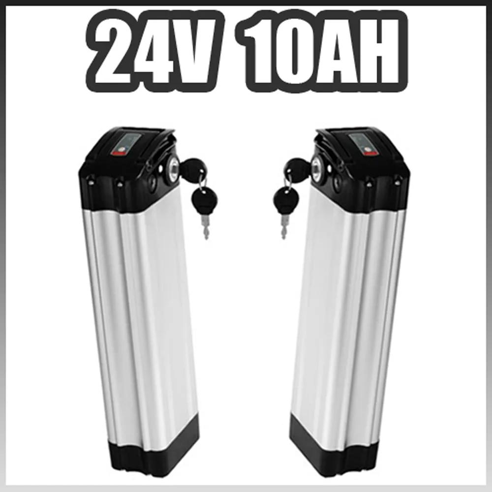 כסף דגי 24 v Ebike סוללה 24 v 10AH חשמלי אופני ליתיום יון סוללה עבור 24 v 250 w 350 w מנוע תאי סמסונג