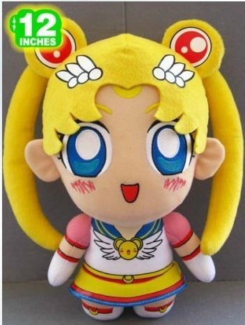 lovely Sailor moon toys standing sailor moon cartoon doll about 30cm