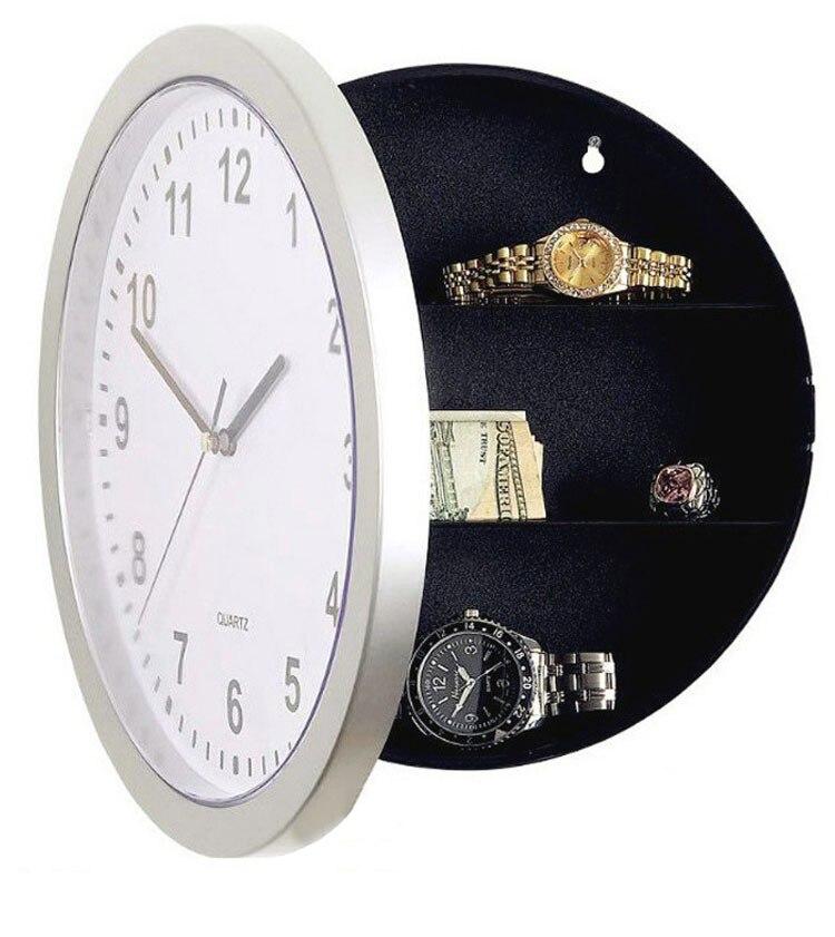 New Hidden Secret Stash Safe Box Creative Wall Clock Safe Money Container Mechanical Storage Box Plastic Jewelry Money недорого