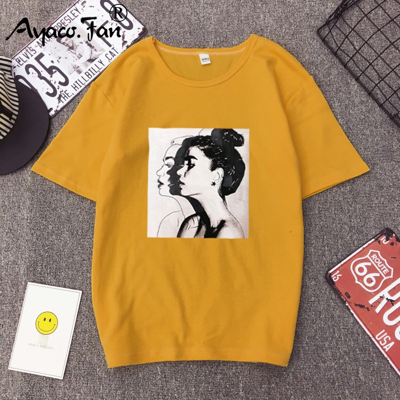 2019 neue Mode T-shirts Frau Frühling Sommer Mädchen Print Kurzarm O-ansatz T-Shirt Lose Frauen Tops Slim Fit Weichen Dame t-shirt