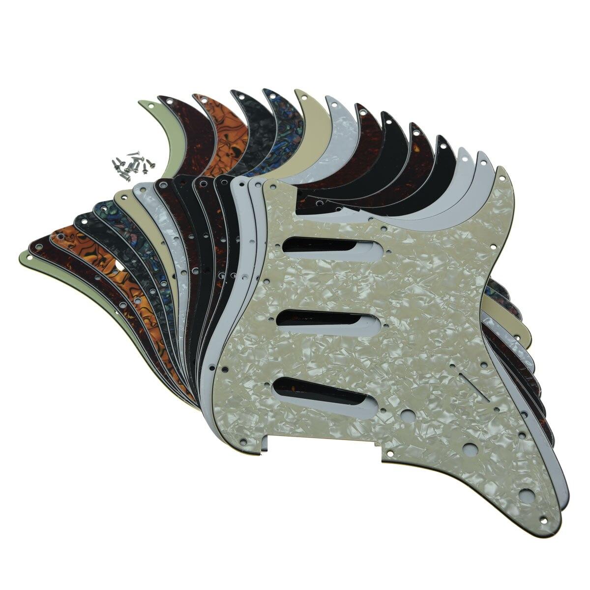 KAISH 11 Отверстие Strat ST SSS одна катушка пикапы гитара Защита от царапин пластина с винтами для американского Fender 62 Stratocaster
