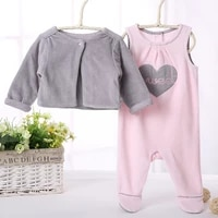baby clothes 2pcs pack set baby girls clothes rompers and coat kids clothes jumpsuit pyjamas kids set baby overalls long sleeves