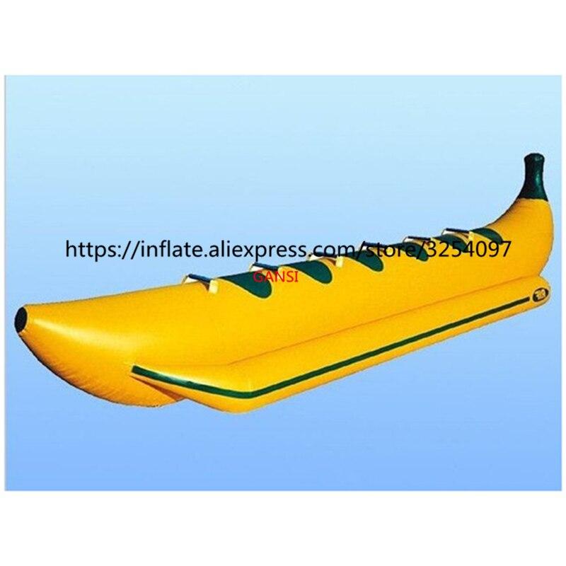 Océano jinete equipos de juego de agua inflable peces voladores Barco de plátano para advanture