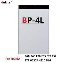 BP-4L Batterie Pour Nokia E61i E63 E90 E95 E71 6650 6760 N97 N810 E72 E52 BP4L BP 4L Recharge de Téléphone