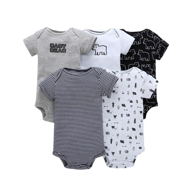 Mono de verano para bebé, niño y niña, conjunto de manga corta, cuello redondo, estampado de oso animal, disfraz infantil, ropa para recién nacido, ropa unisex para recién nacidos