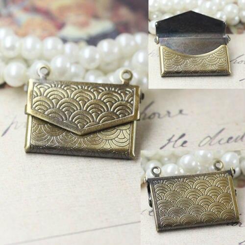 2pcs Wholesale 15*20mm Wallet-shaped PHOTO LOCKET Blank Base ANTIQUE BRONZE Necklace Pendant&Charm DIY Jewelry Making