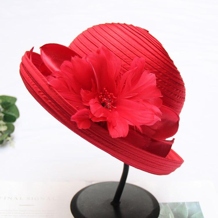 Mingli Tengda-قبعة صغيرة مزينة بالزهور ، وإكسسوارات الزفاف ، وحافة قصيرة ، ومطرزة ، ومجموعة الربيع والصيف