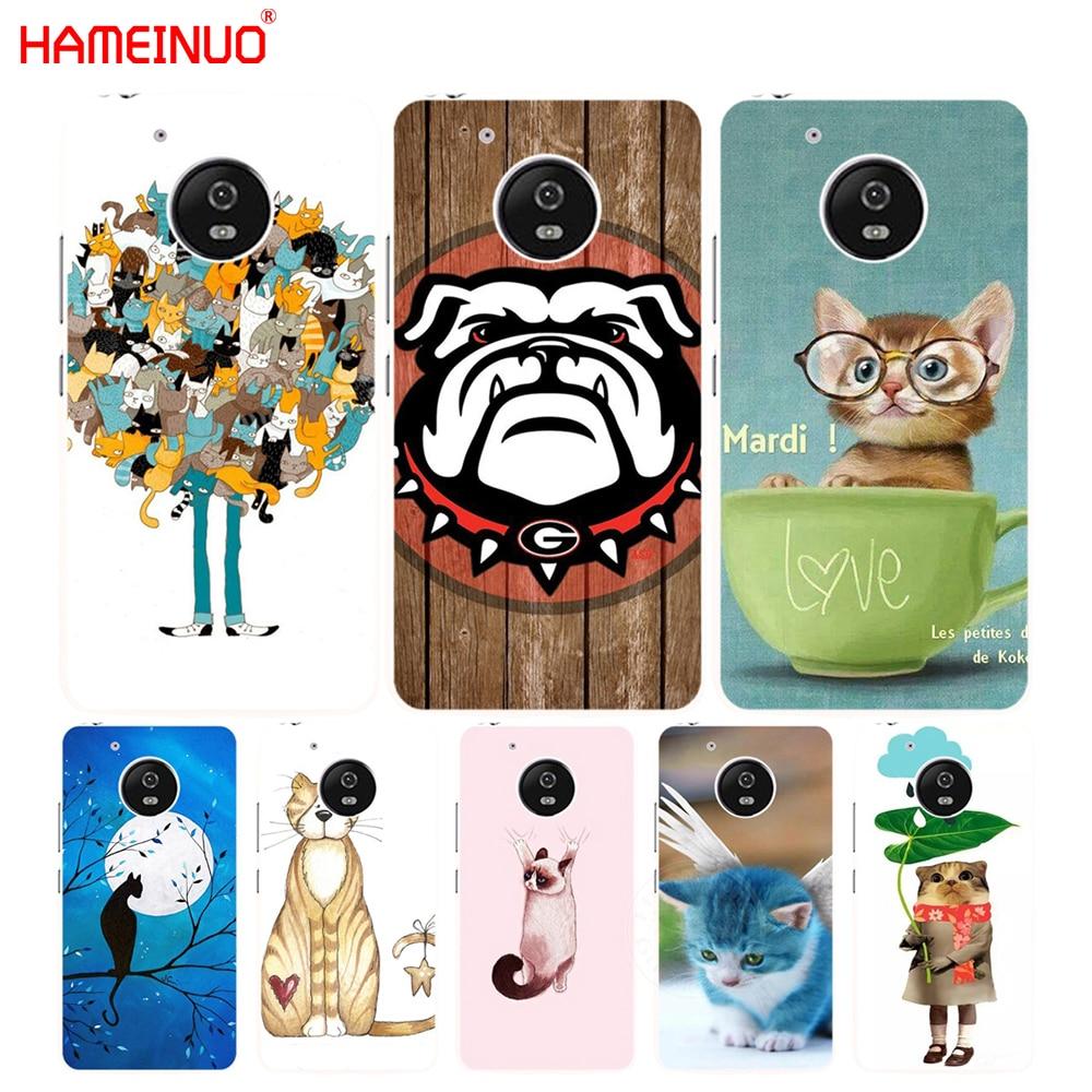 HAMEINUO imagen de Luna Azul gatitos lindos funda para Motorola Moto G6 G5 G5S G4 PLAY PLUS ZUK Z2 pro