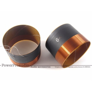 "2pcs /1pair 64MM BASS Voice coil SubWoofer 8OHM For 12"" 15"" inch Speaker repairss DIY"