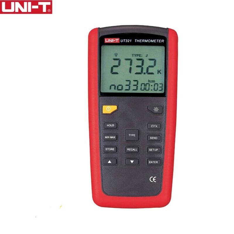 UNI-T tipo de contacto UT321 gama de termometros-150 ~ 1375 interfaz USB Selección de Prueba de Temperatura Industrial