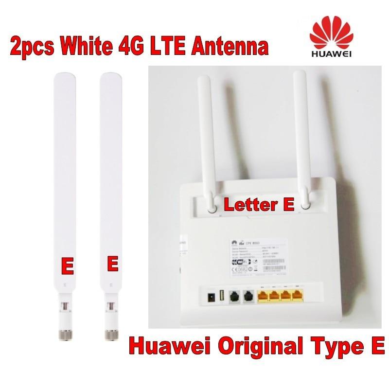 GENUINES for Huawei 2PCS B593 5dBi SMA Male 4G AntennaType E for 4G LTE Router B593 E5186 B315 B310 White  color 4g lte sma connector 4g antenna booster for huawei b310 b593 e5186 b315 e5172 and so on