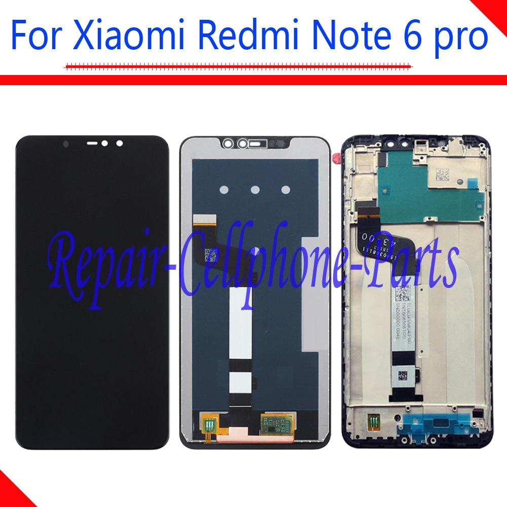 Pantalla LCD completa de 6,26 pulgadas + MONTAJE DE digitalizador de pantalla táctil + cubierta de marco para Xiaomi Redmi Note 6 pro/ redmi Note 6pro