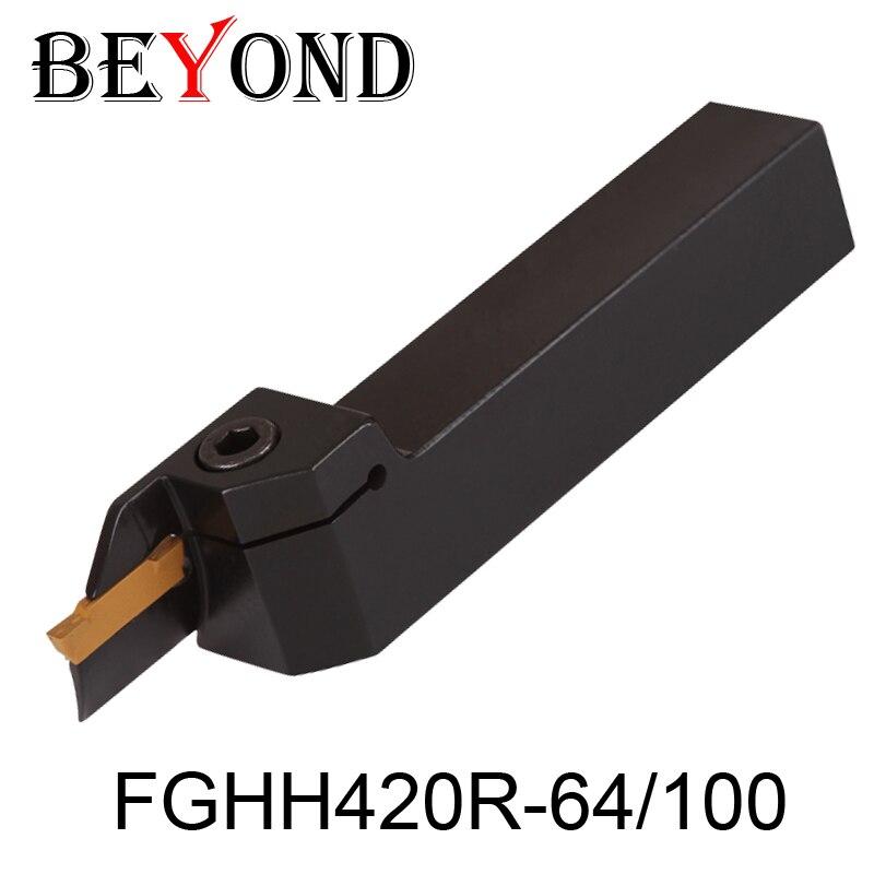BEYOND FGHH FGHH420R FGHH420R-64/100 portaherramientas de torneado exterior Barra de perforación CNC torno cortador herramienta titular ferramentas para torno