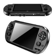 "32/64/128 Bit 5 ""7"" LCD X9 plus Doppel rocker 16G Handheld Retro Game Player Konsole video MP5 TF Karte für GBA/NES 10000 spiele"