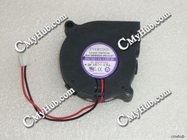 Para EverCool EC5015H12E-B EC5015L12E-B EC5015M12S DC12V 0.10A 5015 cm 50 5mm 50X50X15mm 50*2 50*15mm 2pin 2wire Ventilador