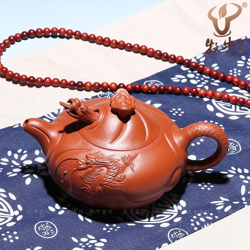 Authentieke Yixing theepot Zhu Hualong Mudfish 170 ml LOGO custom speciale aanbieding groothandel gift theepot kungfu