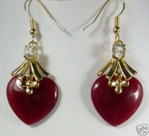 ¡Venta directa de fábrica! ¡venta al por mayor! ¡Nuevo! ¡venta al por mayor! Pendientes colgantes de corazón rojo para mujer AA1234