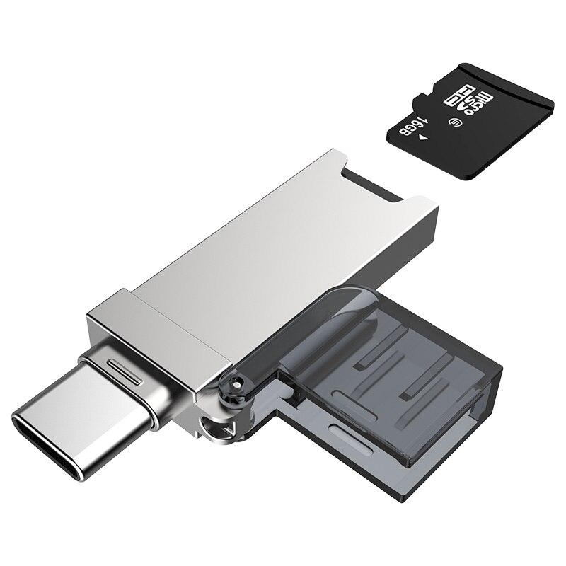 DM CR006 Card Reader USB 3.0 SD/Micro SD TF OTG Smart Memory Card Adapter for Laptop USB 3.0 Type C Cardreader SD Card Reader