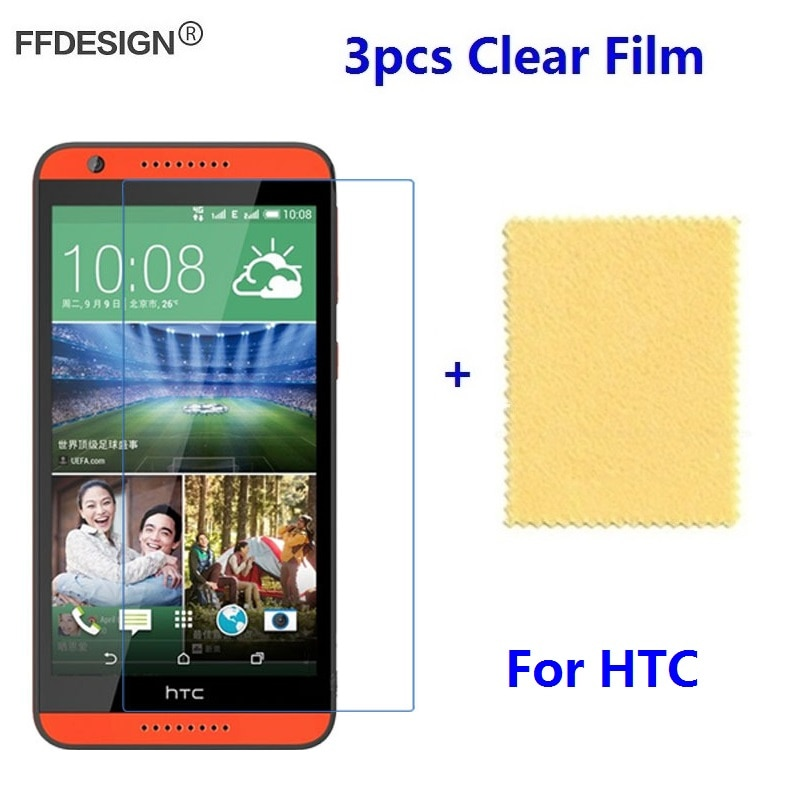 Protetor de Tela LCD Clear Para HTC Desire 816 820 825 828 628 620 610 Desejo 626 826 Tela Película Protetora folha de Guarda Saver