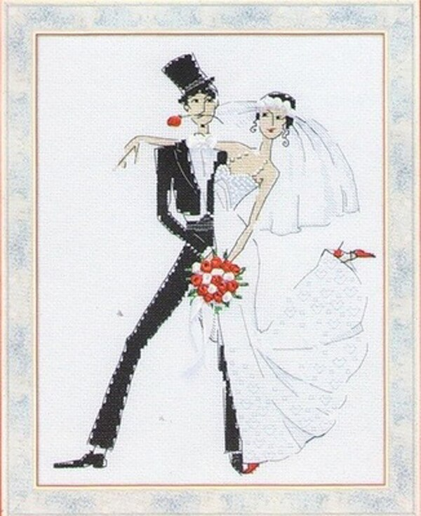Needlework 11CT 14CT 16CT 18CT Cross Stitch, DIY Count Cross Stitch, Embroidery Set, Wedding waltz