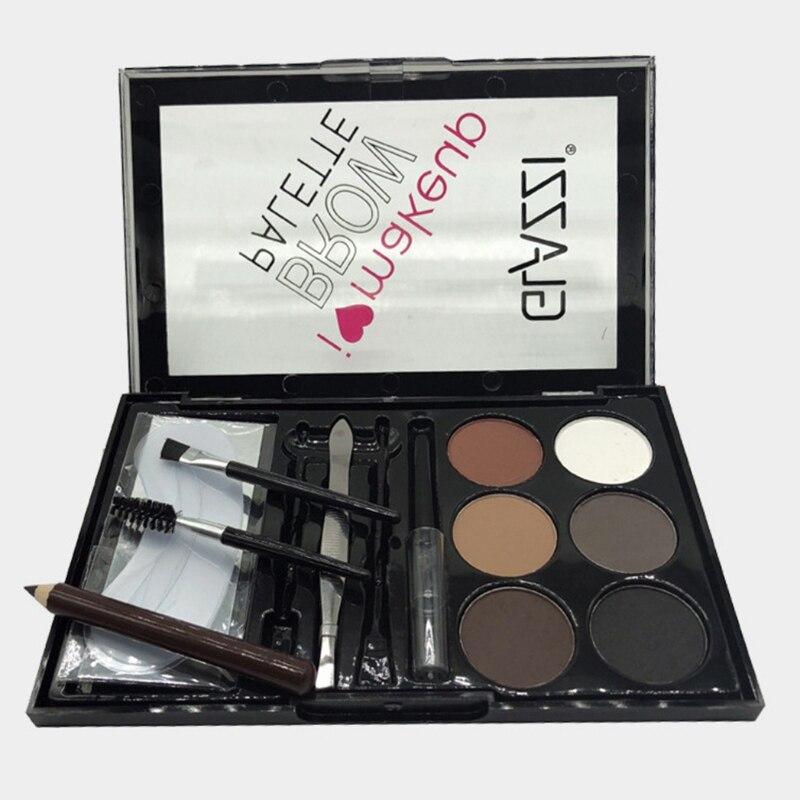 Juego de maquillaje para cejas en polvo impermeable paleta de maquillaje para mujer belleza cosmética P1