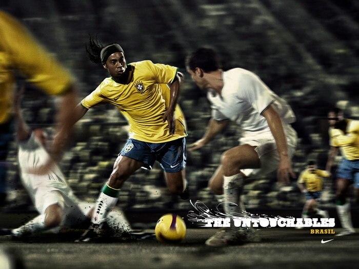 Неtouchables Ronaldinho, Бразильский шелковые постеры, художественное украшение для спальни 0871