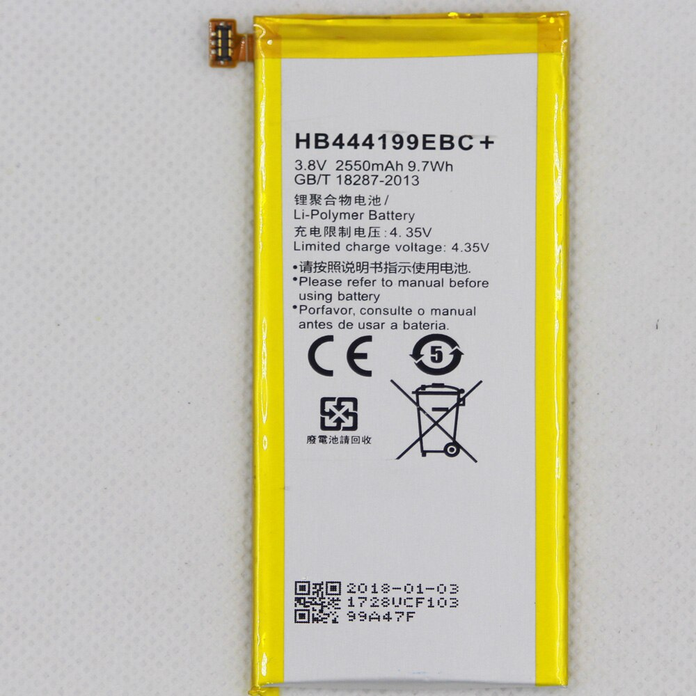 Para Huawei Honor 4C C8818 CHM-CL00 CHM-TL00H CHM-UL00 chm-u01 G jugar Min 2550mAh HB444199EBC teléfono batería Li-ion con herramientas