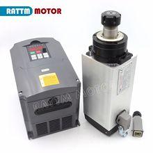 CNC carré 220V 4KW moteur daxe refroidi par Air ER25 18000 tr/min 4 roulement 300Hz avec 3 phases 220V 4KW VFD onduleur