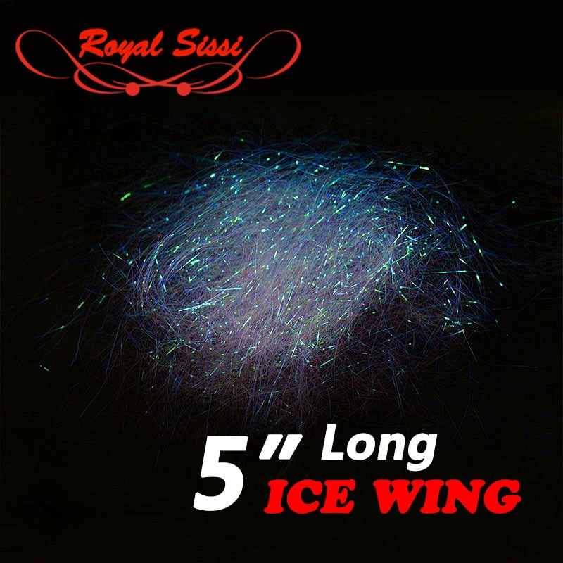 Royal Sissi 1bag flytying 5'' long Ice wing fiber ultra Ice Dub baitfish streamer pearlescent shimmer fringe fly tying materials