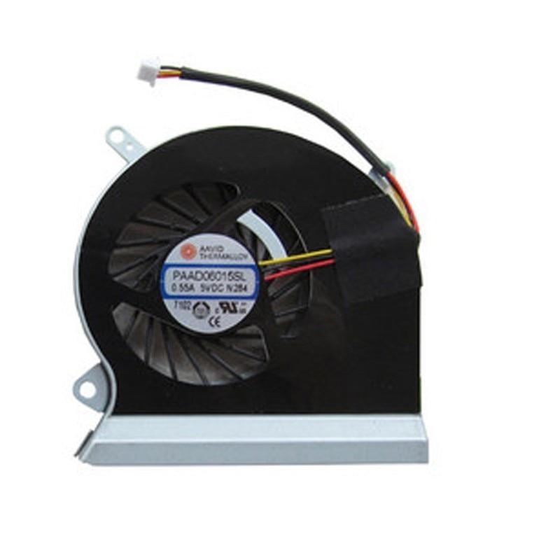 Laptop PAAD06015SL 0.55A 5VDC A166 3 pin CPU Cooling Fan fit for MSI GE60 16GA 16GC série notebook cooler ventilador
