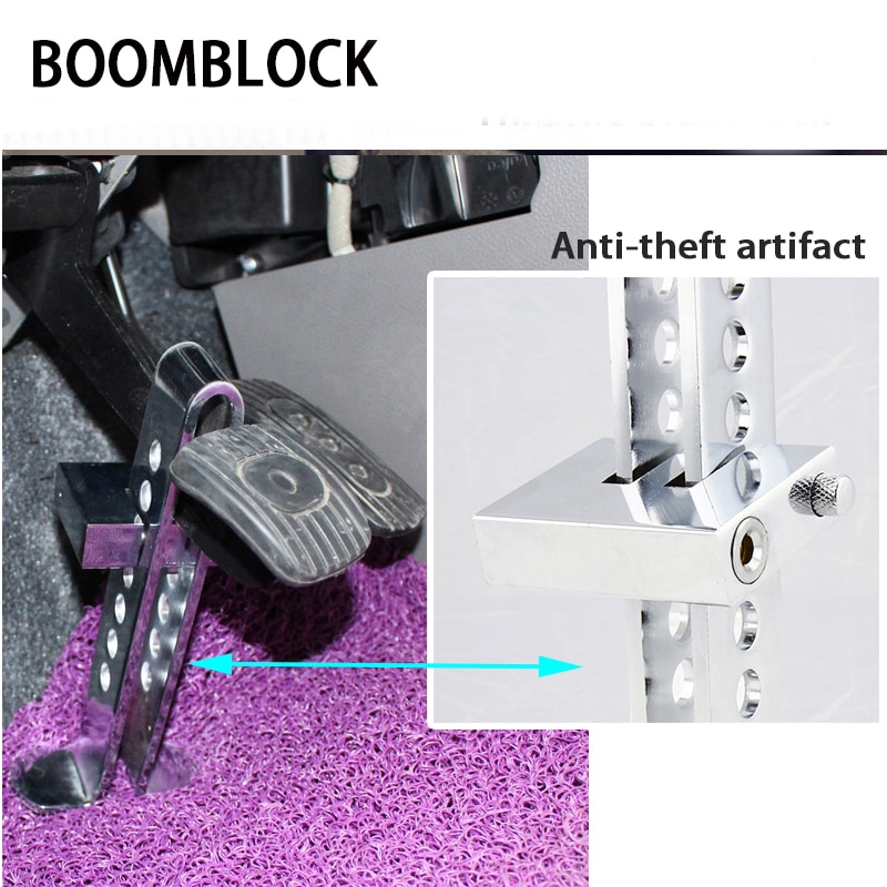 BOOMBLOCK 1set Car Anti-Theft Lock Brake Steel For Bmw E46 E39 Audi A3 A6 C5 A4 B6 Mercedes W203 W211 Mini Cooper
