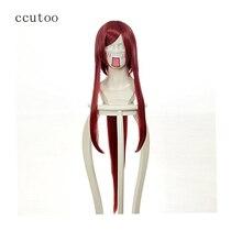 ccutoo Tengen Toppa Gurren Lagan YOKO Red /Golden Long Synthetic Hair Cosplay Wig With Chip Ponytail Heat Resistance Fiber