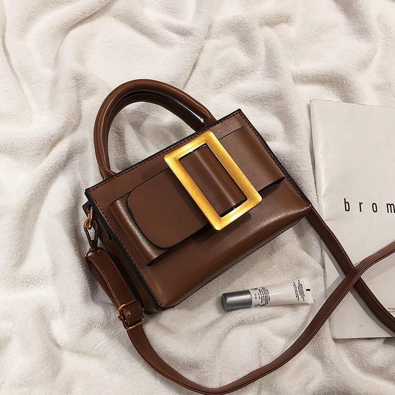 European Vintage Fashion Small Tote bag 2020 New Quality PU Leather Women's Designer Handbag Portable Shoulder Messenger Bags