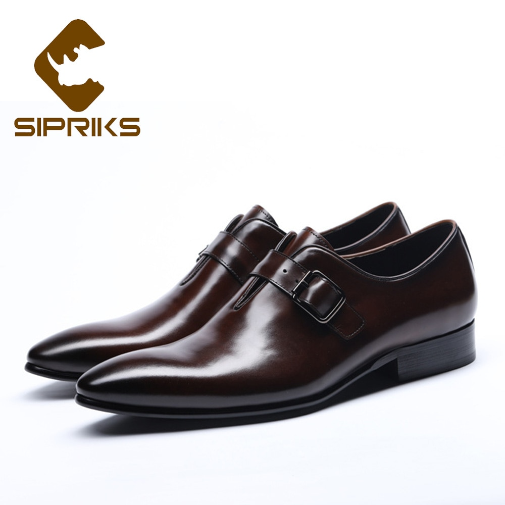 Sipriks واحدة الراهب حذاء بسيور أنيقة رجل الأعمال مكتب الأحذية مع مشبك حزام للرجال دعوى الاجتماعية بوس الزفاف أحذية