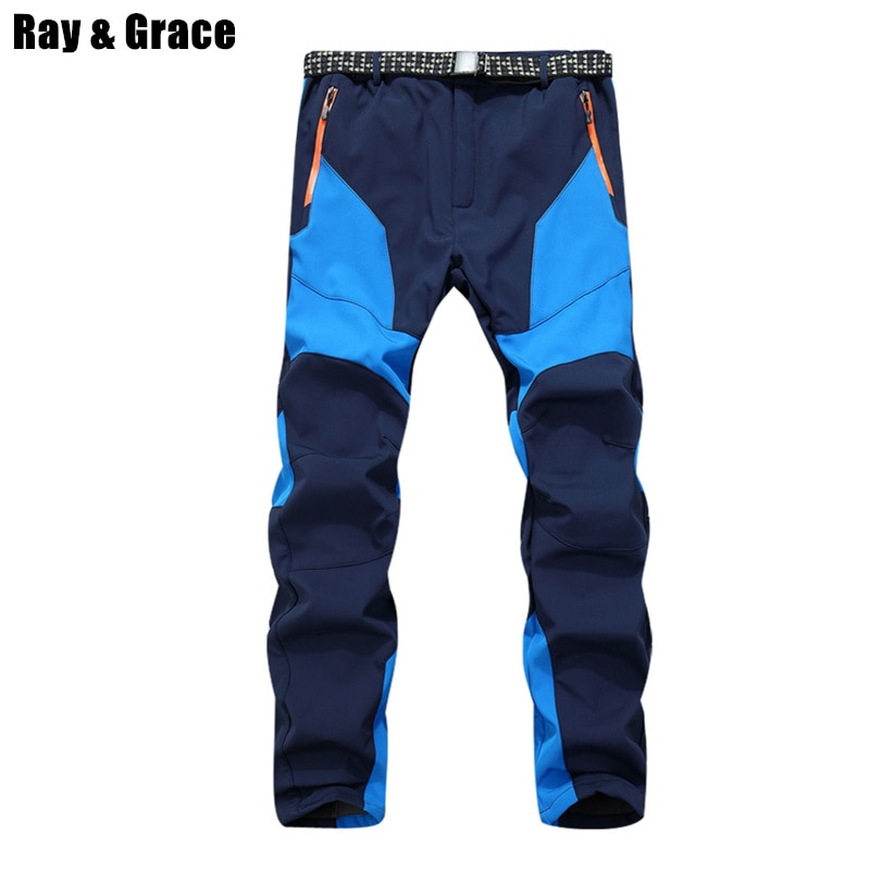 Pantalones cálidos de lana Softshell de invierno para hombre, pantalones para esquiar, Snowboard, deportes al aire libre, senderismo, pantalones grises para Camping, escalada, respiración, nieve