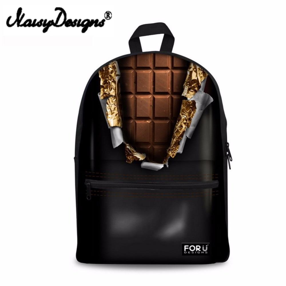 Noisydesigns bunte schokolade Schulter Rucksack für Teen studenten kid geschenke tasche Anpassen bild Kinder Schul