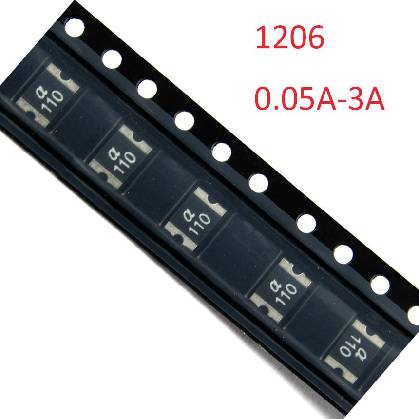 3A 300MA 5V 6V 16V 24V 1206 PPTC Polyswitch Polyfuse eléctrica SMD SMT Chip de recuperación curativa fusible reajustable