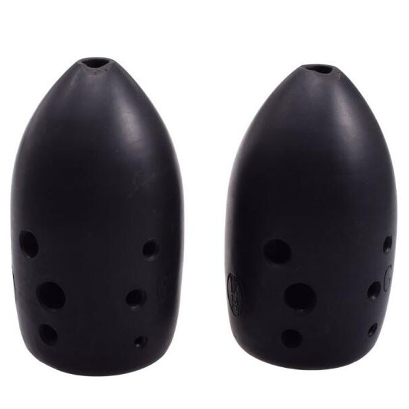 8 Hole Chinese Ancient Xun Flute Black Pottery Dual-chamber Professional Clay Flute Musical Instrument G key Ceramic Ocarina enlarge