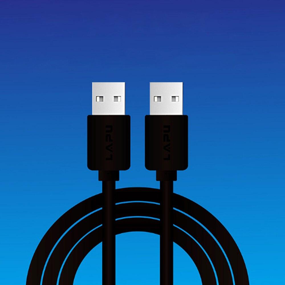 USB 2,0 datos de línea corta público a público doble cabeza móvil caja de disco duro datos línea notebook radiador cable de conexión