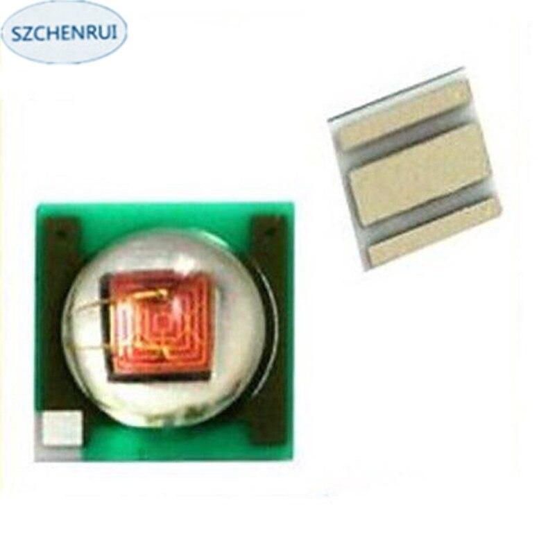 1000Pcs Lmitation Cree  3w 3535 SMD LED Red Lamp Bead 620NM 625NM 16mm 20mm Board  Lighting Bulb Fiashlights
