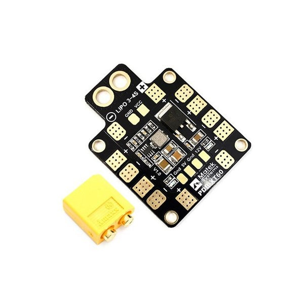 tarot 3in1 pdb power distribution board osd bec 2 6s 5v 12v 3a for cc3d naze32 sp racing f3 flip32 spracing f3 flight controller MATEK PDB XT60 with BEC 5V/12V V1.1