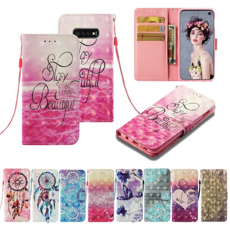 Funda de cuero Dream Catcher tipo billetera con tapa blanda de TPU para teléfono, funda de silicona con soporte, Fundas para Huawei P8 Lite 2017 P9 Lite