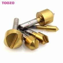 Novo 5 pçs titânio bancada de aço 90 graus flauta chanfro broca métrica 6mm-19mm g08 whosale & dropship