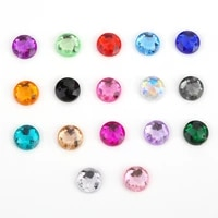 round flatback two holes sew on rhinestone crystals acrylic beads for garment stones accessory diy crafts 18 colors choice