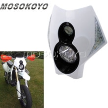 Indicateur de phare tout-terrain pour Suzuki Yamaha KTM   Phare de Motocross, moto blanche X2, Dirt Bike Version